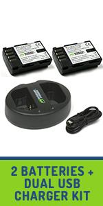 Dual USB charger kit,