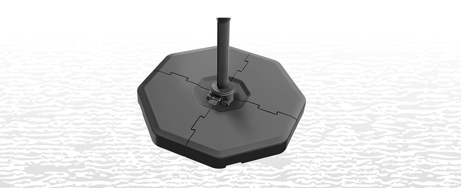 schneider sonnenschirm rhodos natur 300x300 cm quadratisch gestell aluminium stahl. Black Bedroom Furniture Sets. Home Design Ideas
