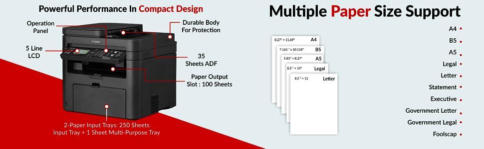 Canon MF244DW Digital Multifunction Laser Printer SPN-FOR1P