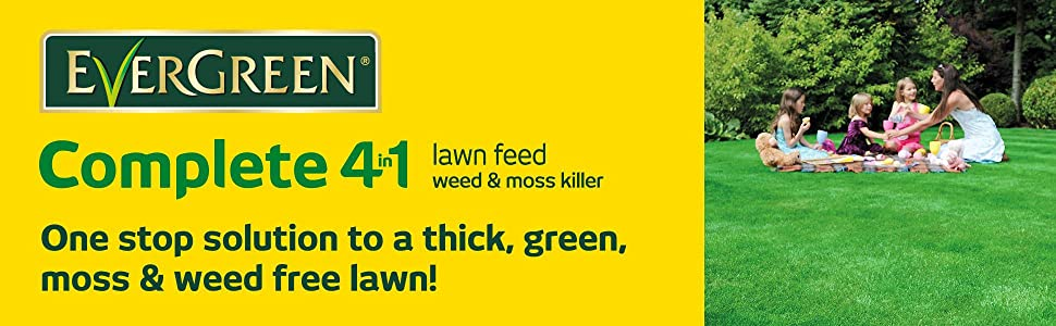 EverGreen Complete 4-in-1 - One stop solution to a thick, green, moss & weed free lawn!