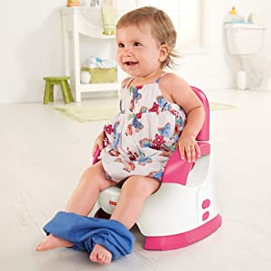 Custom Comfort Potty Training Seat Two Position Height Adjustabl Easy Clean Gren