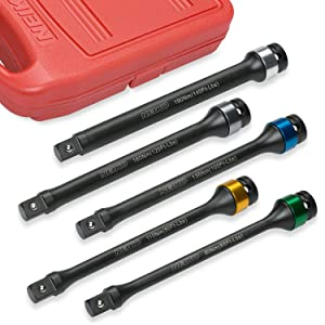 torque limiting extension bar set socket automotive repair lug nut