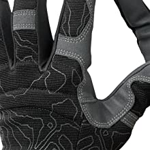 3 fingers with ring-cut microfiber strips