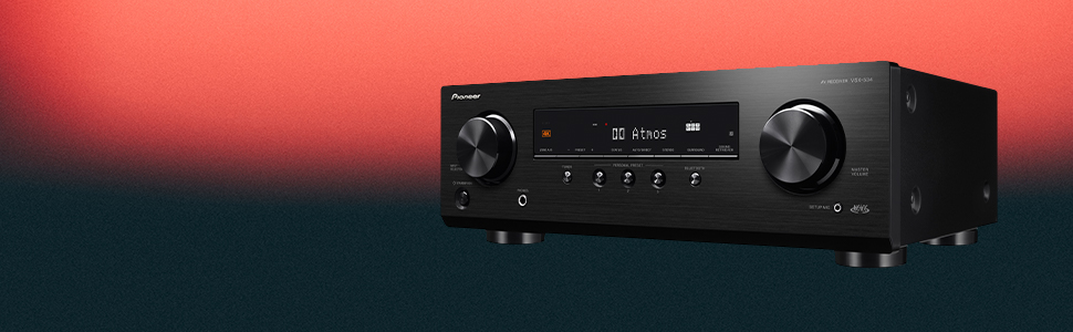 Nero Pioneer VSX-534 Ricevitore 5x150 Watt, Dolby Atmos, DTS:X, Dolby Atmos Height Virtualizer, calibrazione automatica MCACC, Advanced Sound Retriever, Bluetooth, USB