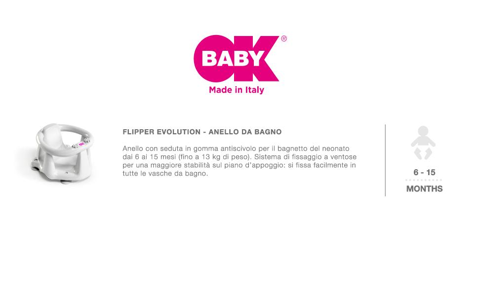 okbaby baby anelli da bagno
