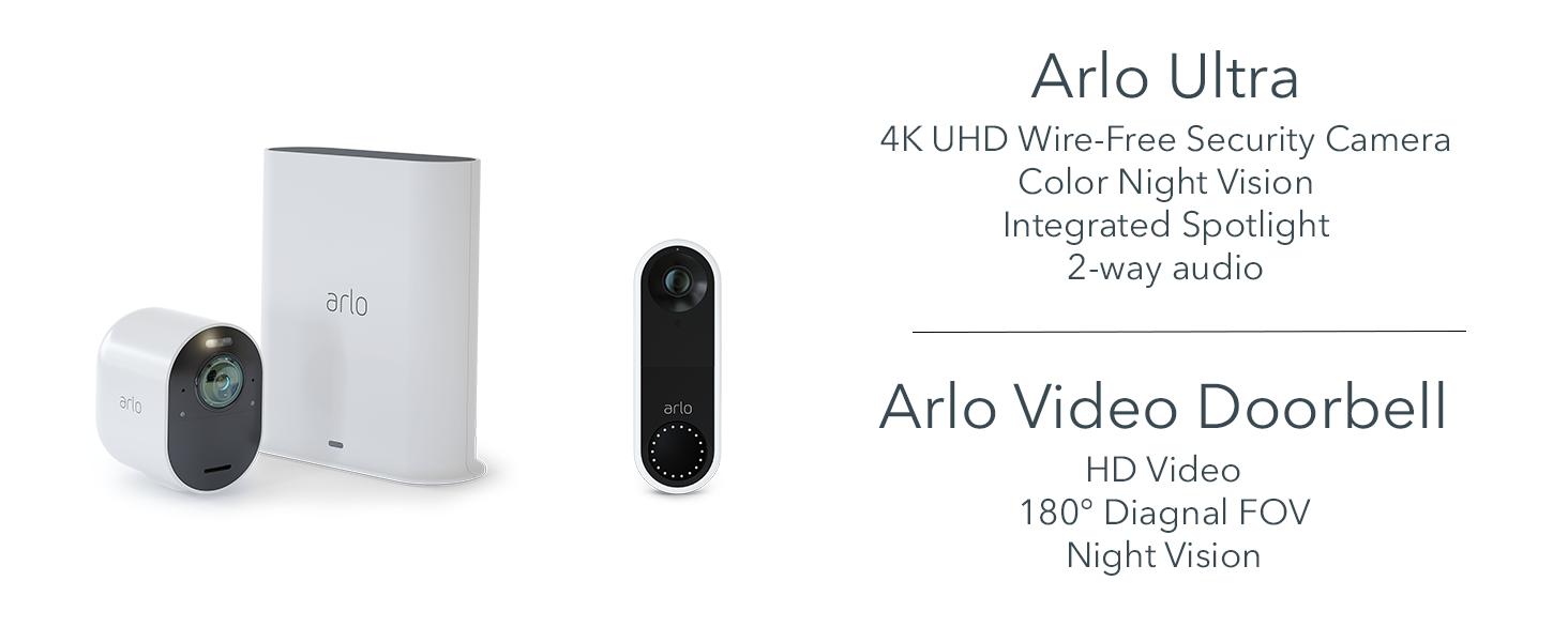 Arlo, Arlo Ultra, Arlo Video Doorbell, Arlo Smart Home, Smart Home, Security Camera, UK, Wire-Free