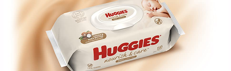 Huggies Nourish amp; Care Baby Wipes