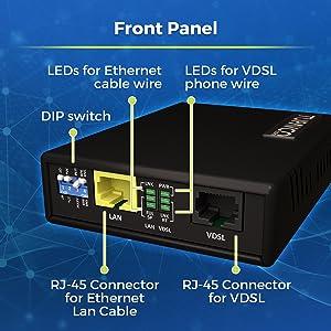 Amazon.com: Tupavco Ethernet Extender Kit - 2pc Pair TEX-100 - Range on