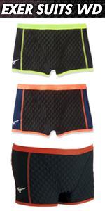 MIZUNO(ミズノ) 競泳水着 トレーニング用 メンズ エクサースーツ WD ショートスパッツ N2MB7576
