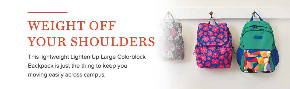 840502824e Amazon.com  Vera Bradley Women s Large Colorblock Backpack