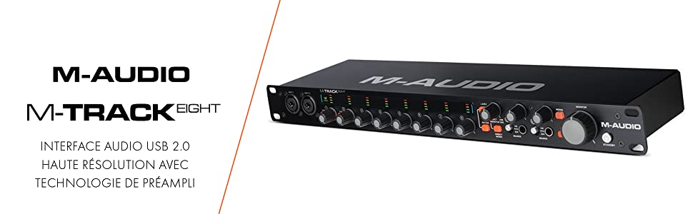 M-Audio M-Track 8Interface Audio USB 8 canaux Technologie de Préamplification Octane Enregistrement