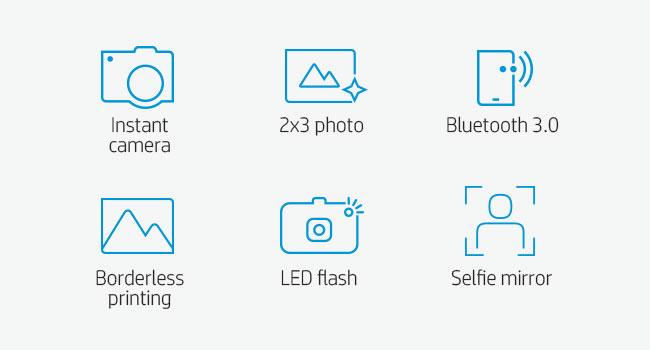 camera print printing 2x3 2 x 3 inch borderless LED flash selfie mirror