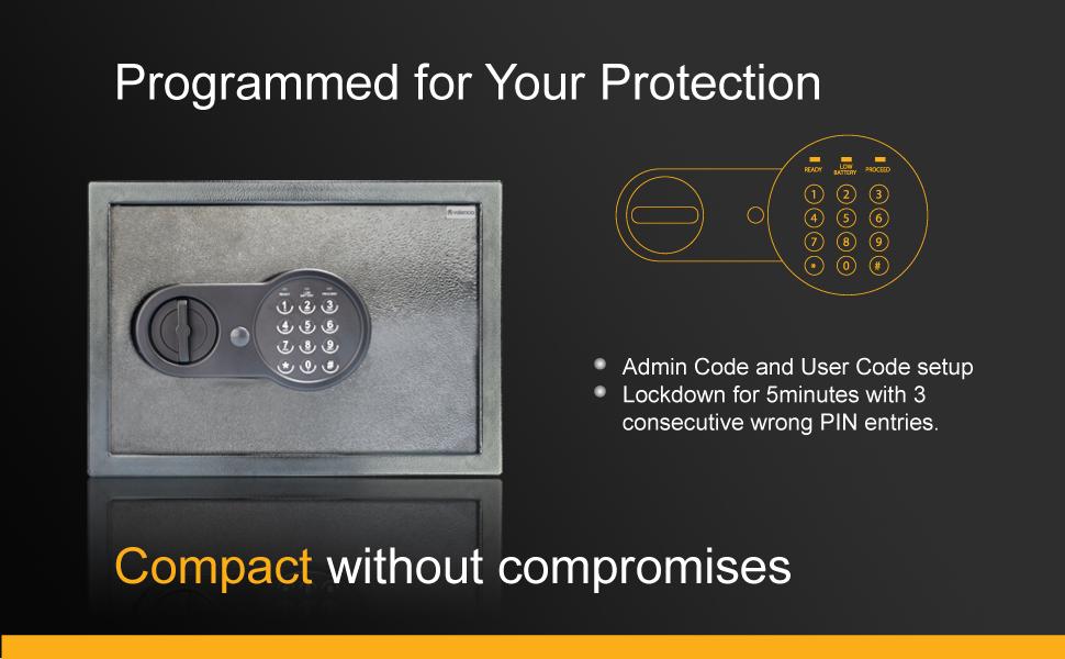 Crux digital locker with password and manual key