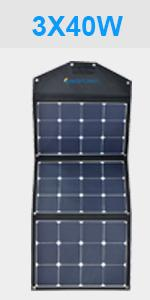 Acopower 120 Watt Foldable Solar Panel Kit
