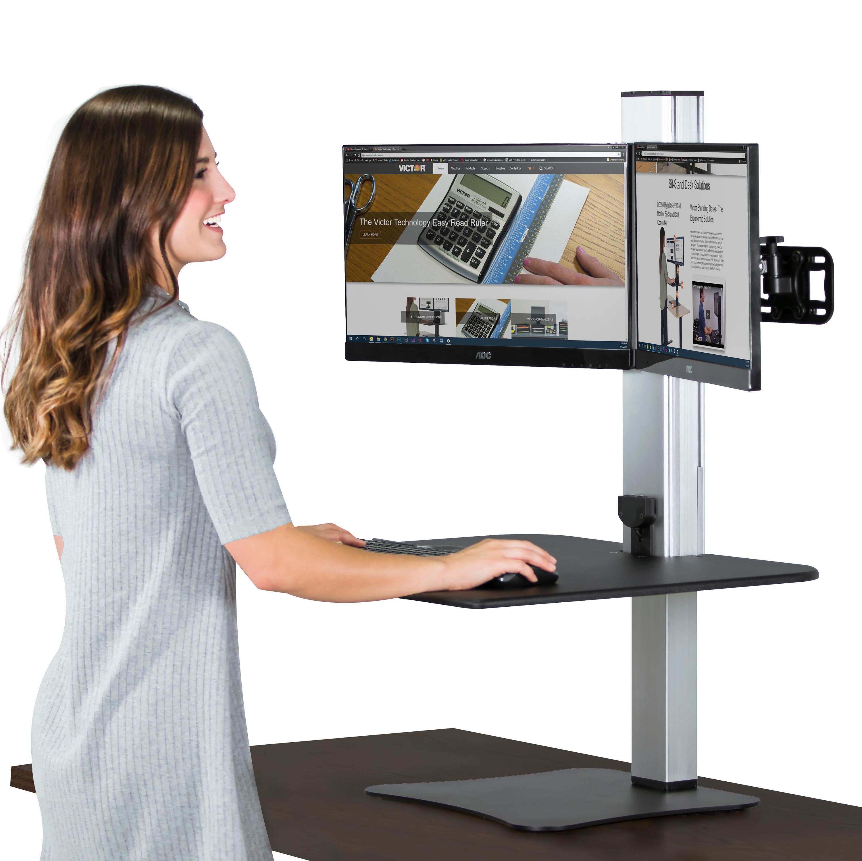 standing adapter to height converter tabletop attachment most workstation stand sit desk marvelous genius