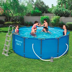 piscina sin instalacion jardin patio
