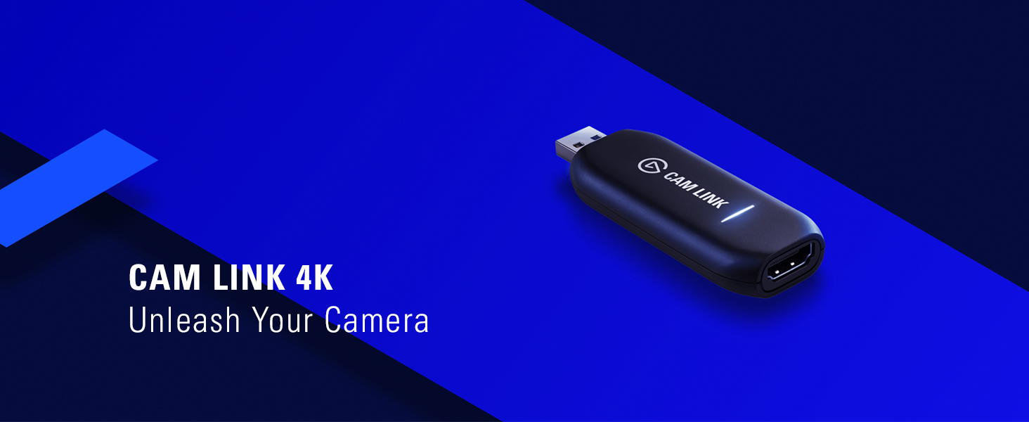 Elgato Cam Link 4K - Broadcast live and record via DSLR, camcorder, or  action cam in 1080p60 or 4K at 30 fps, compact HDMI capture device, USB 3 0