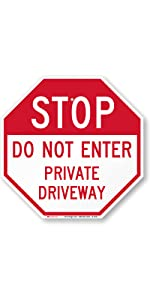 Do Not Enter, Stop Sign, Traffic, Car, Driving, Lot, One way, Heavy-duty Aluminum