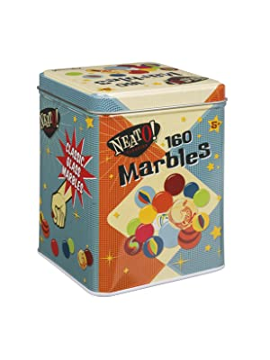 marbles, retro toys, old fashioned toys, marbles in a tin