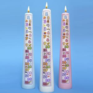 1 21 Year Countdown Birthday Candle In Three Colors By Celebration Candles