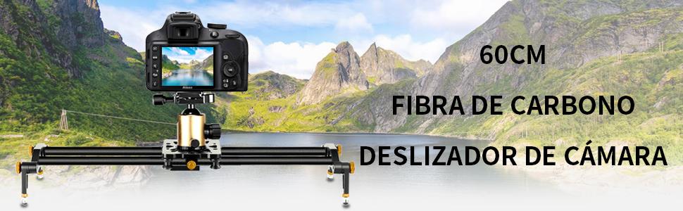 Neewer 60cm Pista Slider Estabilizador Video Carril Cámara de ...