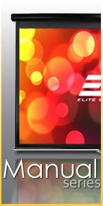 Elite Screens Manual Screen