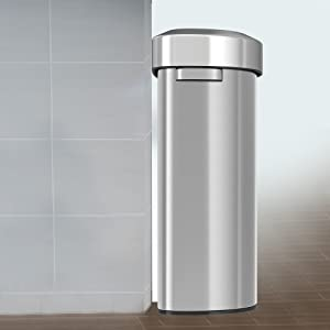 trash can garbage bin recycle office home kitchen stainless steel rubbish clean hygiene gift house