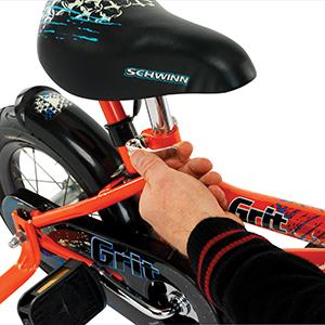 Grit Orange tool free adjustable seat