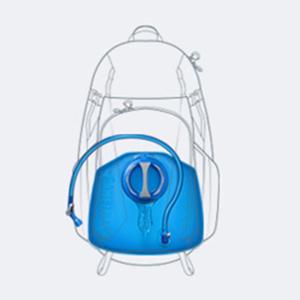 camelbak, water bladder, hydration bladder, reservoir, lumbar reservoir, bike hydration pack