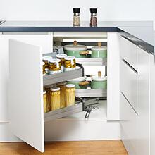 maximum corner storage, kitchen corner storage organiser