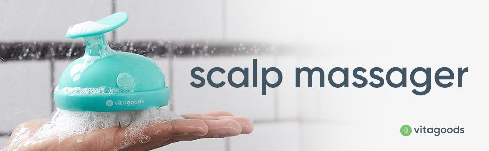 4966f3f9ee0 Amazon.com  Vitagoods Scalp Massaging Shampoo Brush (Green)  Beauty