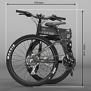 LEGEND EBIKES ETNA Smart 10,4Ah Bicicleta, Adultos Unisex, Negro ...