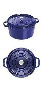 STAUB Cocotte blue