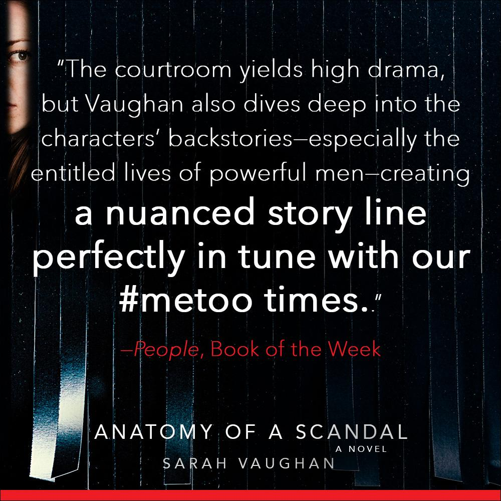 Anatomy Of A Scandal A Novel Sarah Vaughan 9781501172168 Amazon