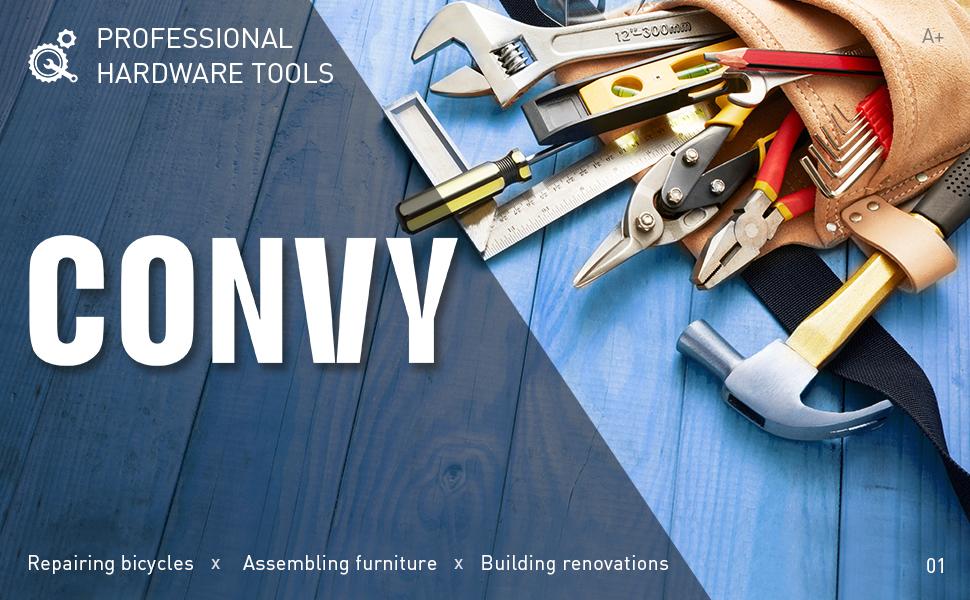 Convy GJ-0021 Double Offset Box End Wrench Chrome Vanadium Steel Metric 12mm-13mm