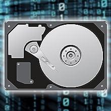 RFID Festplatte RS64 verfügt über eingebaute internen 2,5 Zoll HDD und SSD ist leicht und handlich