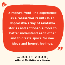 """""""Relatable stories and actionable tools to better understand each other..."""" Julie Zhuo, author."""