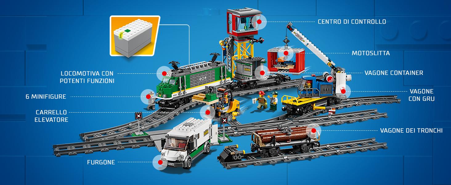 Lego Città Cargo Treno 60198 Tampone Terminale Stop Con 1 Dritto Pista Only
