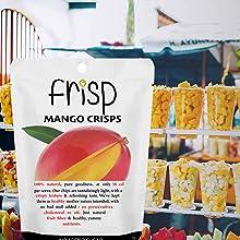 Gult free snacks, mango chips