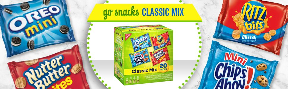 Nabisco Classic Cookie & Cracker Mix, Oreo, Chips Ahoy!, Nutter Butter & Ritz Bits Cheese, 20 Ct