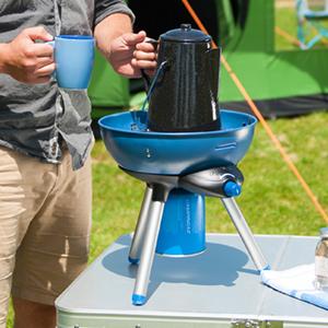 Campingaz Party Grill 200 Barbacoa Portátil Gas de Camping, BBQ Parrilla y Hornillo a gas, 2000 W