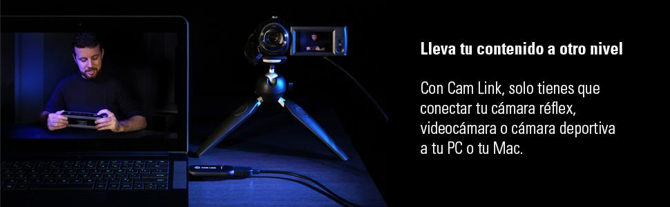 Elgato Cam Link - Capturadora HDMI compacta para streaming en ...