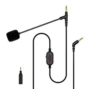 boom mic microphone cable adapter universal gaming headset 3.5mm 2.5mm zoom video conference chat