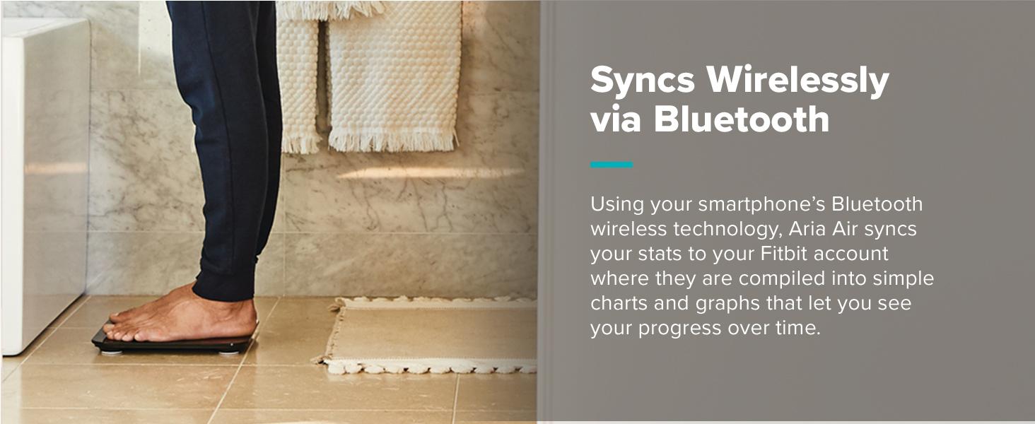 Syncs wirelessly via Bluetooth