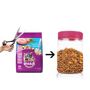 Storage of kitten food