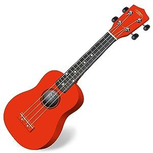 Ukelele Classic Cantabile US-100 RD soprano rojo: Amazon.es ...