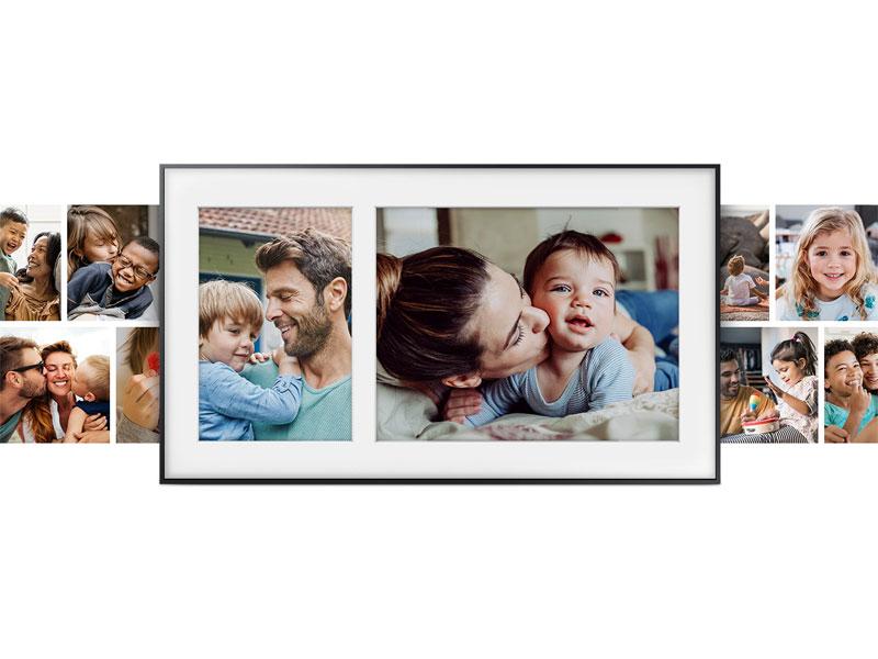 Family photos on The Frame