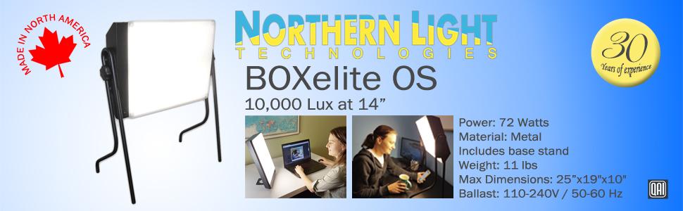 Northern Light Technologies BOX lumière Amérique du Nord pied en métal expérience lampe noire sans UV sécurité