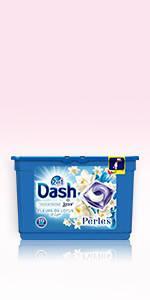 Dash 2en1 Perles Lessive en Capsules Coquelicot & Fleurs De Cerisier 30 Lavages