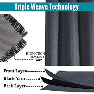 triple layered blackout curtains thermal blackout curtain